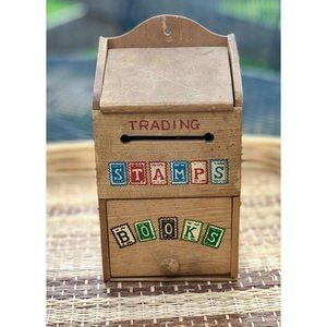Stamp Trading Box Wooden Painted Box Decor